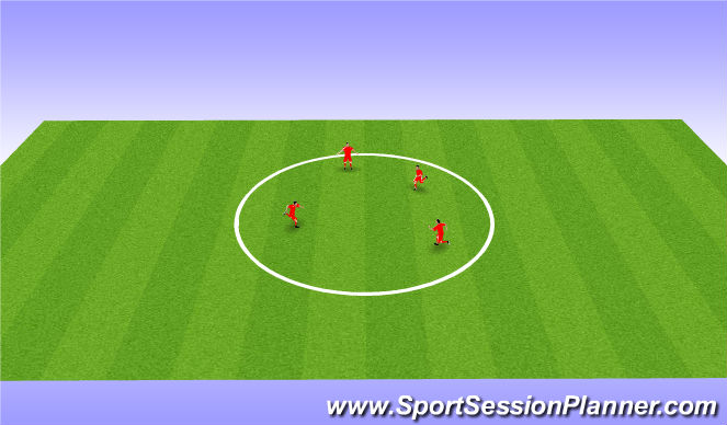 Football/Soccer Session Plan Drill (Colour): Stuck In The Mud