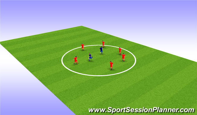 Football/Soccer Session Plan Drill (Colour): Chase it, Keep it