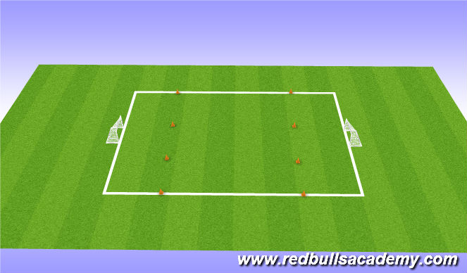 Football/Soccer Session Plan Drill (Colour): Conditioned game 6v6