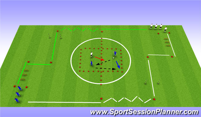 Football/Soccer Session Plan Drill (Colour): Technical / SAQ (Continued)