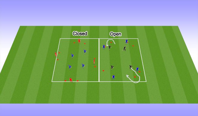 Football/Soccer Session Plan Drill (Colour): sliding doors