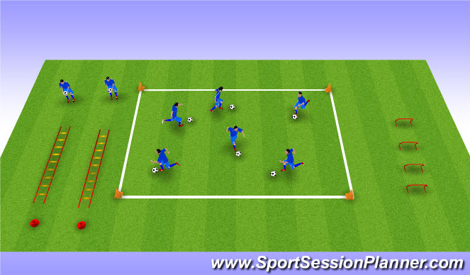 Football/Soccer Session Plan Drill (Colour): SMFC Skills Square