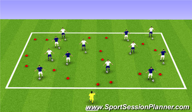 Football/Soccer Session Plan Drill (Colour): Activity One