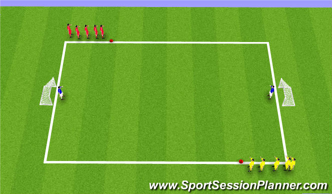 Football/Soccer Session Plan Drill (Colour): Shoot & Recover