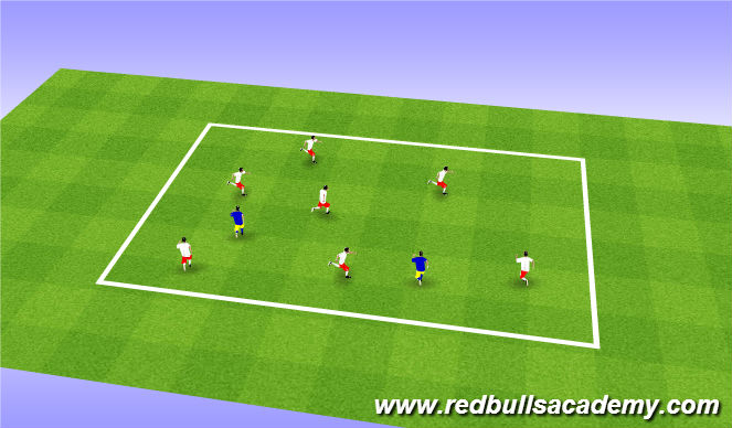 Football/Soccer Session Plan Drill (Colour): warm up TAG