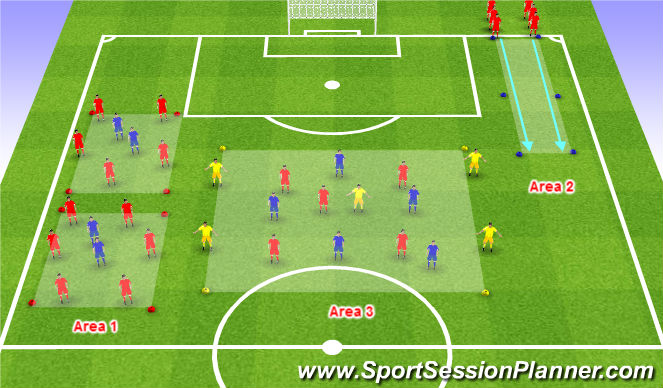 Football/Soccer Session Plan Drill (Colour): Players Added