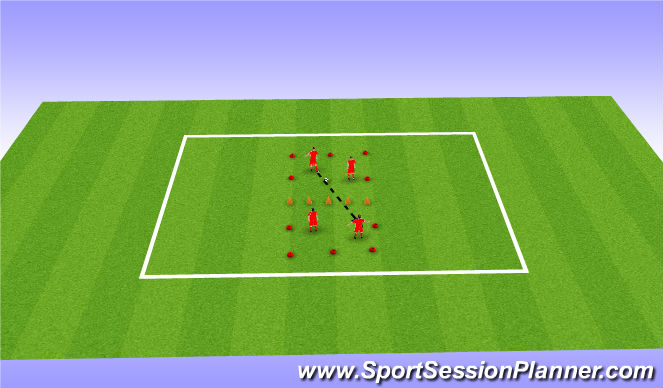 Football/Soccer Session Plan Drill (Colour): Football Tennis