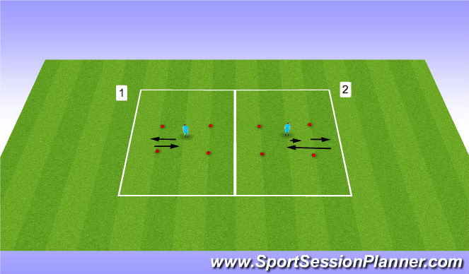 Football/Soccer Session Plan Drill (Colour): 4 Touch Accelerate