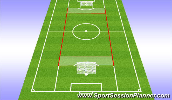 Football/Soccer Session Plan Drill (Colour): Short / Long Passing
