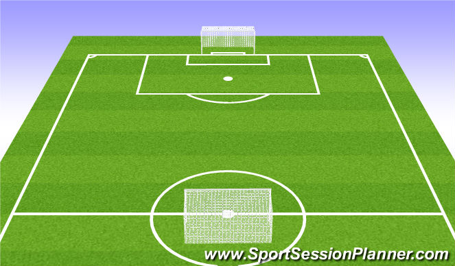Football/Soccer Session Plan Drill (Colour): Taking Shooting Opportunities