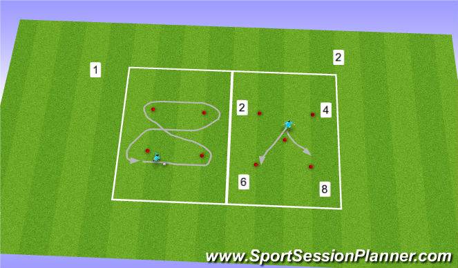 Football/Soccer Session Plan Drill (Colour): Numbers and Figures