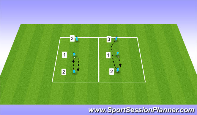 Football/Soccer Session Plan Drill (Colour): Volley Challenge