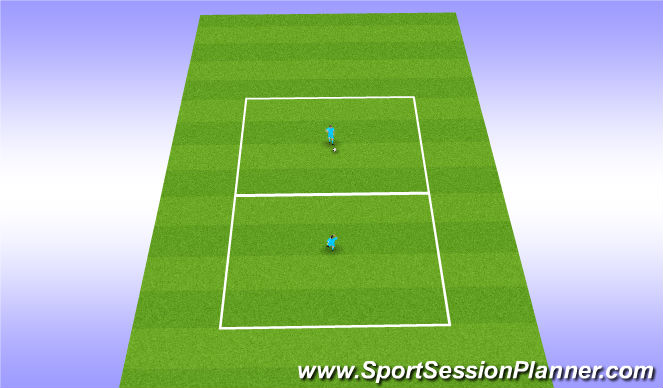Football/Soccer Session Plan Drill (Colour): Soccer Tennis.