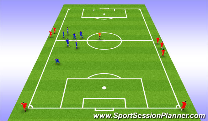 Football/Soccer Session Plan Drill (Colour): Hlaupapróf.