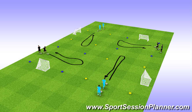 Football/Soccer Session Plan Drill (Colour): Spel, U-moves