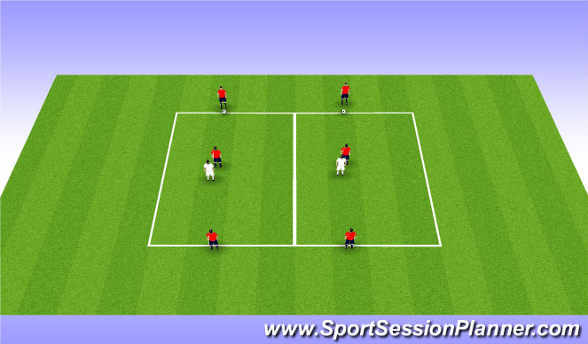 Football/Soccer Session Plan Drill (Colour): Tech 20mins