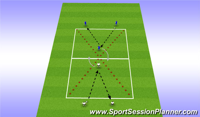 Football/Soccer Session Plan Drill (Colour): Warm Up / Technical