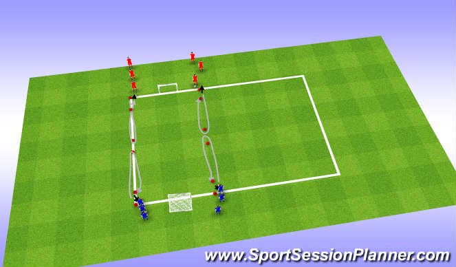 Football/Soccer Session Plan Drill (Colour): Spelvorm