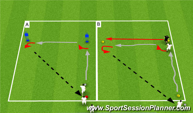 Football/Soccer Session Plan Drill (Colour): Shielding & Ball Protection