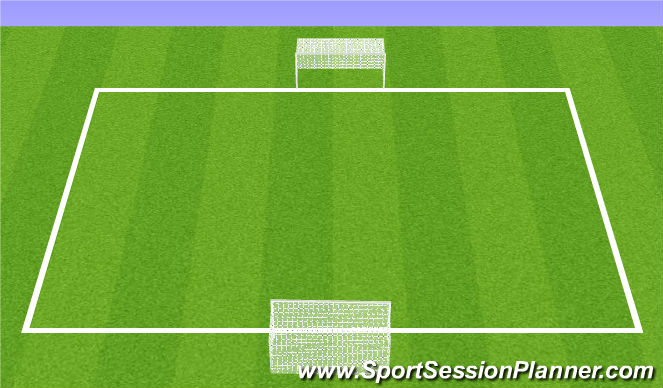 Football/Soccer Session Plan Drill (Colour): 10 Minute Match
