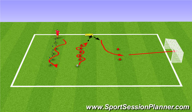Football/Soccer Session Plan Drill (Colour): Jordan Clark Challenge of the Day