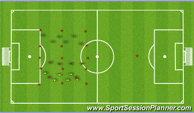 Football/Soccer Session Plan Drill (Colour): 3 Sided Posession Drill