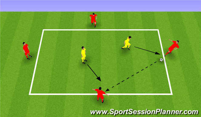 Football/Soccer Session Plan Drill (Colour): Skill Training STB