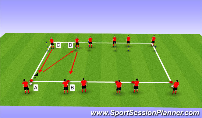 Football/Soccer Session Plan Drill (Colour): Step 4 Passing Drill