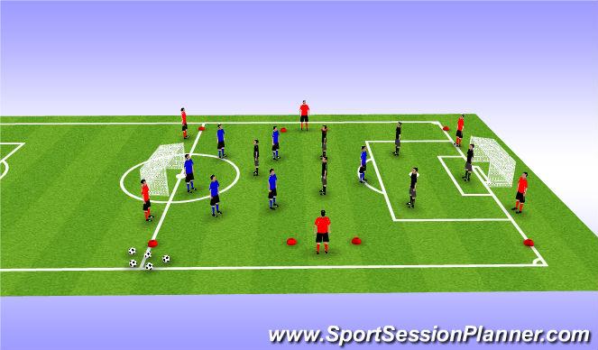 Football/Soccer Session Plan Drill (Colour): Step 6 SSG/Long Runs