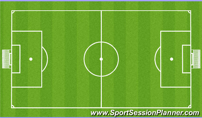 Football/Soccer Session Plan Drill (Colour): SSG..9 v9 or smaller