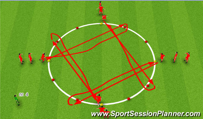 Football/Soccer Session Plan Drill (Colour): Líkamlegþjálfun: