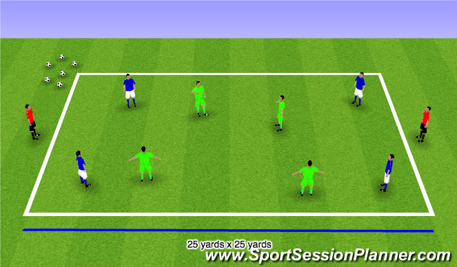 Football/Soccer Session Plan Drill (Colour): Step 4 Possession Games