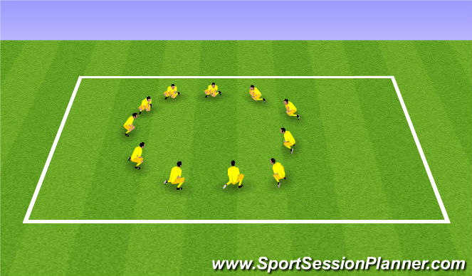 Football/Soccer Session Plan Drill (Colour): Step 7 Warm Down Stretches