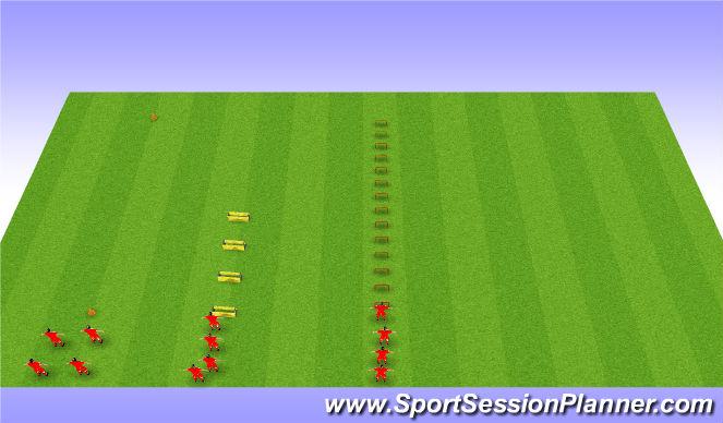 Football/Soccer Session Plan Drill (Colour): Aerobic Power