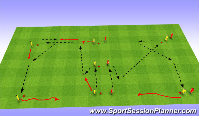 Football/Soccer Session Plan Drill (Colour): Technique 2nd W-U