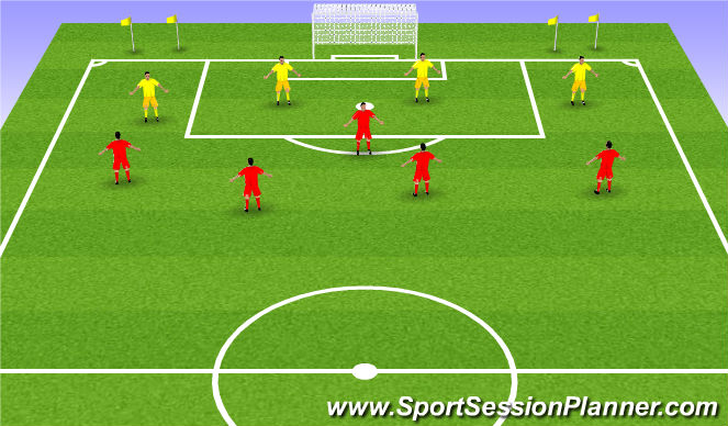 Football/Soccer Session Plan Drill (Colour): Expanded acitivity