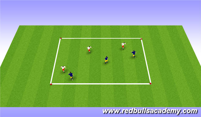 Football/Soccer Session Plan Drill (Colour): Warm-Up (Knee Slap)