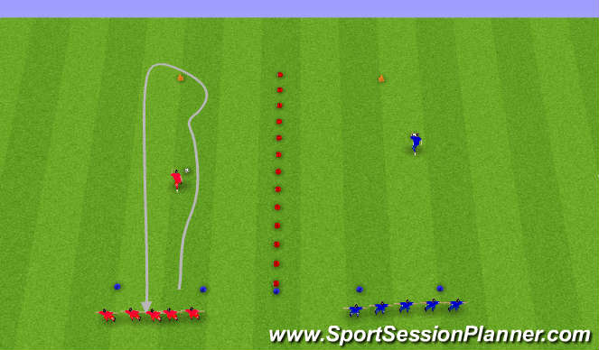 Football/Soccer Session Plan Drill (Colour): Knattraksleikir.