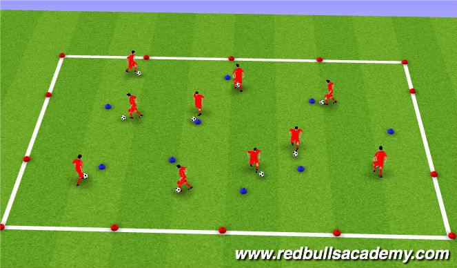 Football/Soccer Session Plan Drill (Colour): Warm up pt2