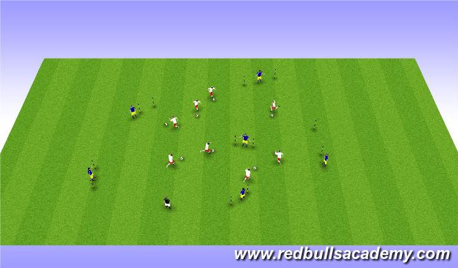 Football/Soccer Session Plan Drill (Colour): Main Theme II