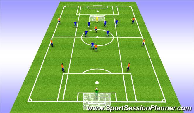 Football/Soccer Session Plan Drill (Colour): ESSG