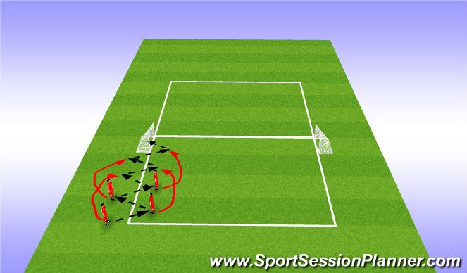 Football/Soccer Session Plan Drill (Colour): One touch movement