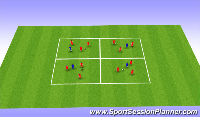 Football/Soccer Session Plan Drill (Colour): Passing/Possession