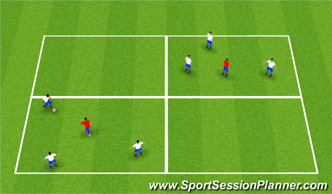 Football/Soccer Session Plan Drill (Colour): 10-4 good buddy
