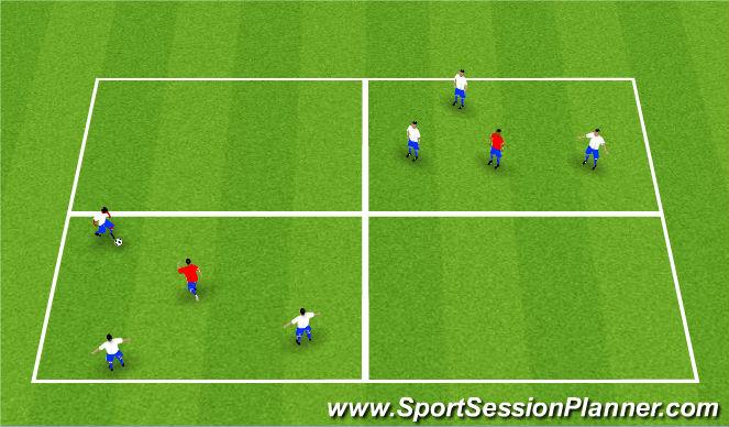 Football/Soccer Session Plan Drill (Colour): 10-4 good buddy