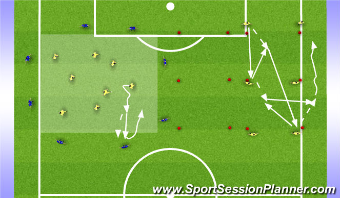 Football/Soccer Session Plan Drill (Colour): Rozgrzewka