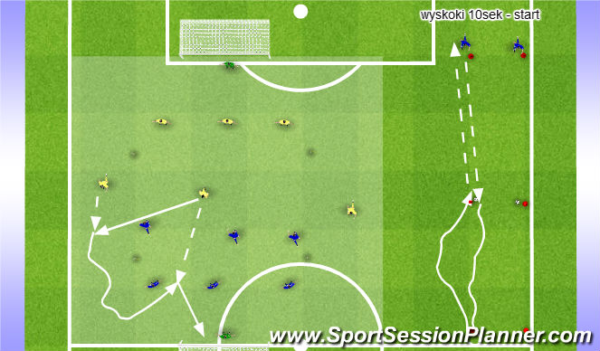 Football/Soccer Session Plan Drill (Colour): Gry i starty wytrzymałościowe