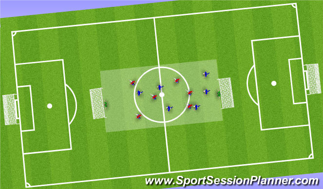 Football/Soccer Session Plan Drill (Colour): goal game with direction