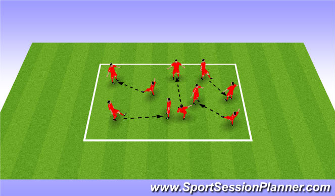 Football/Soccer Session Plan Drill (Colour): Paint The Field-Passing