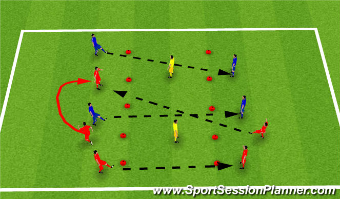 Football/Soccer Session Plan Drill (Colour): Keep Away Passing